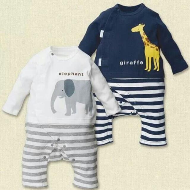 🎈(現貨)英倫中性嬰兒純棉寶寶爬服