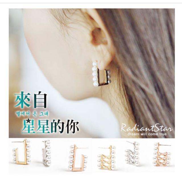 韓國耳環(含運)