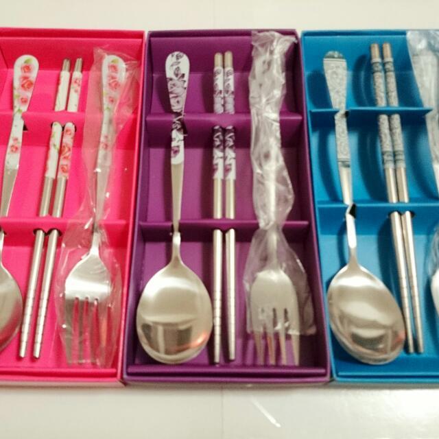 筷子叉子湯池組 環保餐具 (婚禮小物、交換禮物、探房禮物)