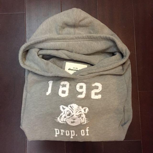 Abercrombie & Fitch kids hoodie 帽T(內鋪棉)