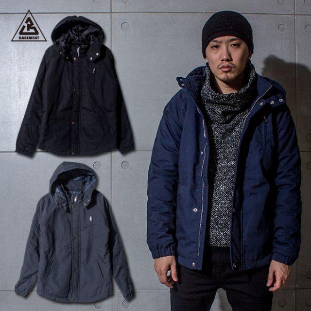 (地下室BASEMENT)。BT 韓系 拉鍊口袋 立領連帽 造型保暖厚棉 軍裝外套(現+預) C0209