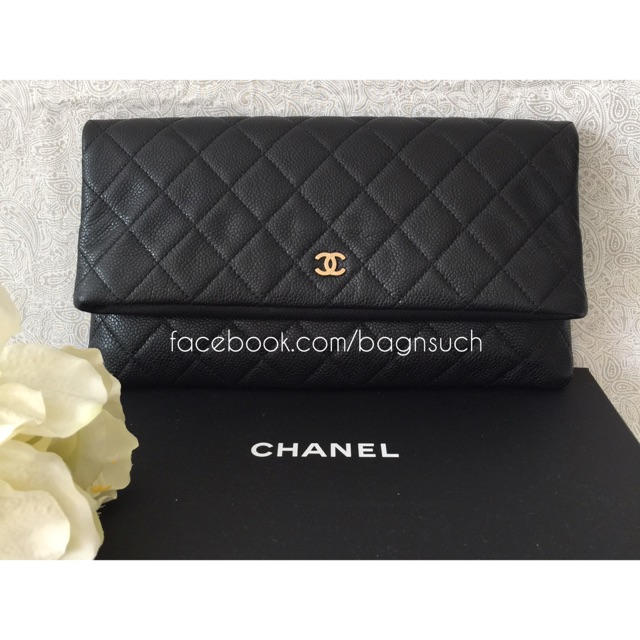 b5e18ff5d2c3 BN Chanel A69391 Foldover Clutch/Pouch, Luxury on Carousell