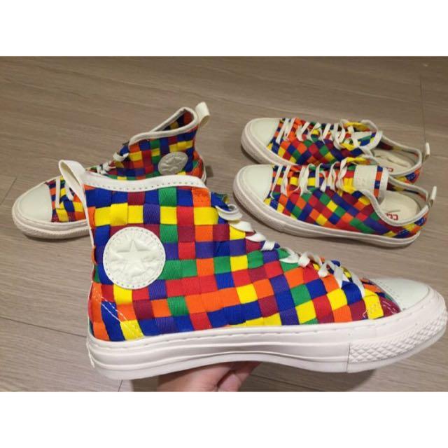 Converse All Star weave 1970 彩色編織 彩虹 高筒 帆布鞋