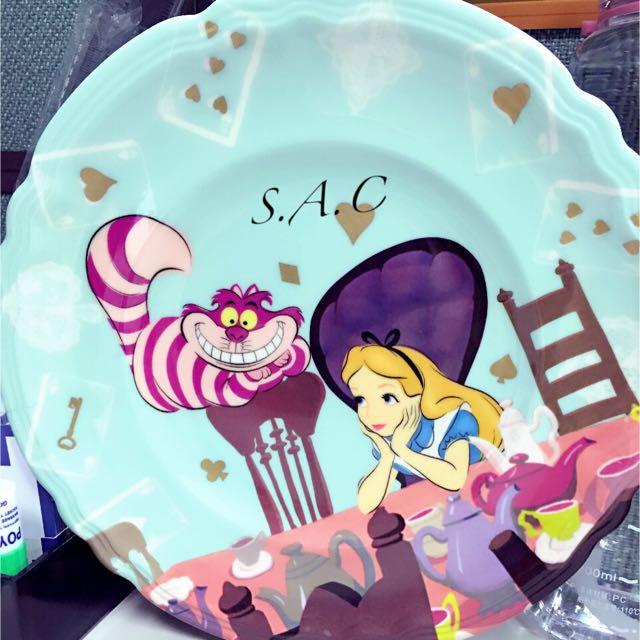 日本Disney Store 愛麗絲夢遊仙境 餐盤