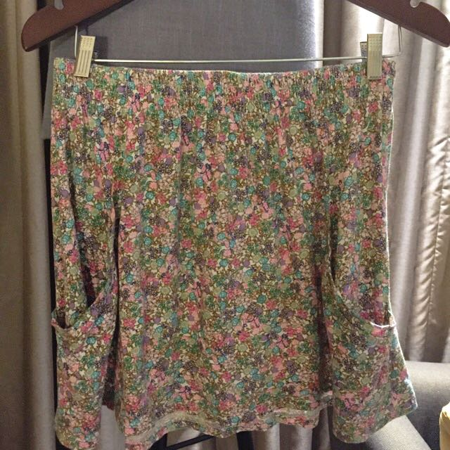 Floral Skirt By Zara TRF For Her On Carousell