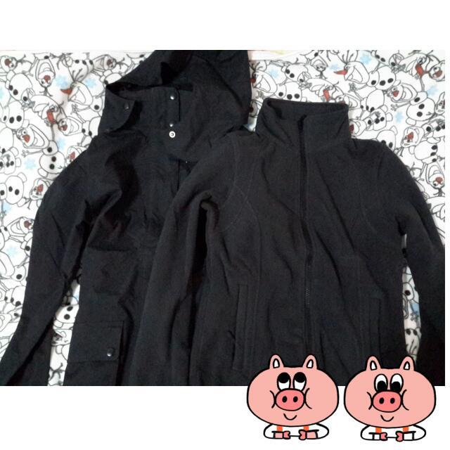 Lativ 黑色防水透氣機能外套