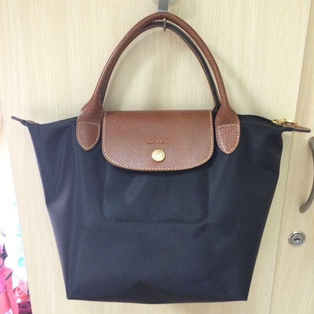 Longchamp 黑色短把s號