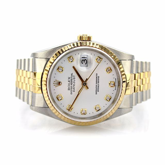 a9f7d2e5a206f Rolex Oyster Perpetual DateJust 16233 Diamond Dial