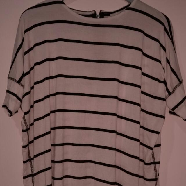 Seed Striped Oversized Tshirt Sz XS