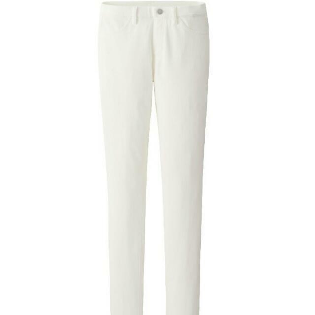 Uniqlo 全新白色長褲 s