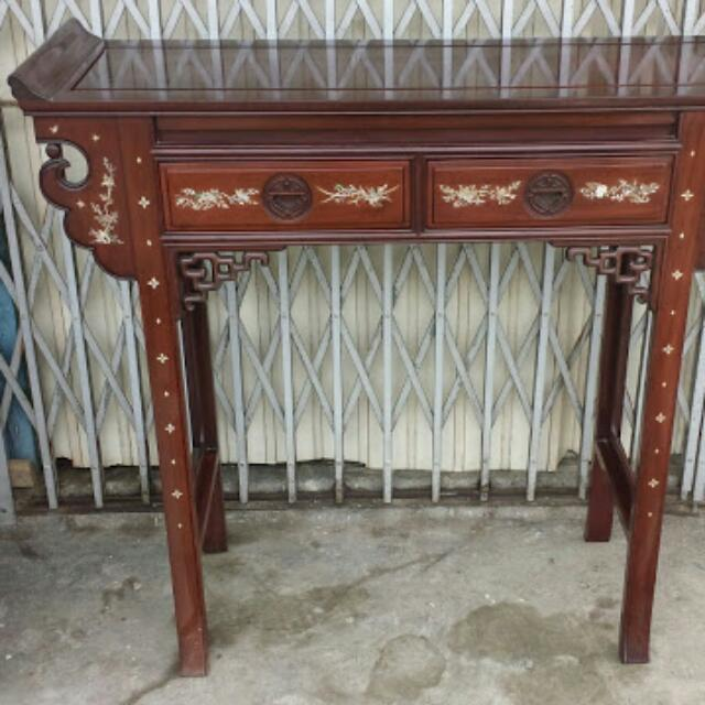 Captivating Used Rosewood Altar Table For Cheap Sale, Home U0026 Furniture On Carousell