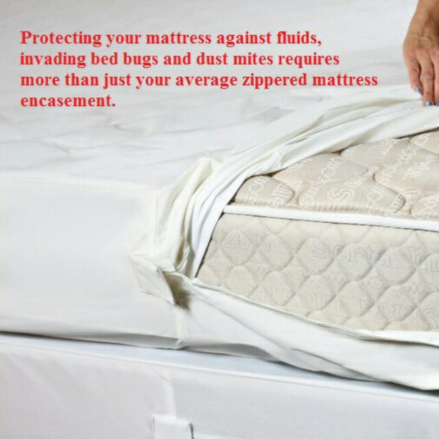 [PO] Zippered Waterproof Mattress Encasement For Bed Bug And Bed Wetting (Cover Only)