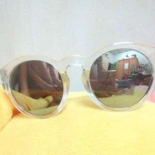 含運)復古 透明 墨鏡 眼鏡
