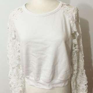 日本品牌 Emoda 白色雕花上衣 日本帶回