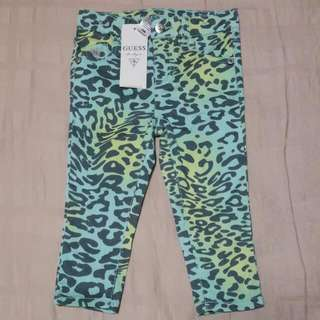 GUESS Kids Green Leopard Print Skinny Pants
