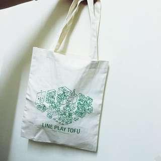 Line &豆腐人 聯名購物袋