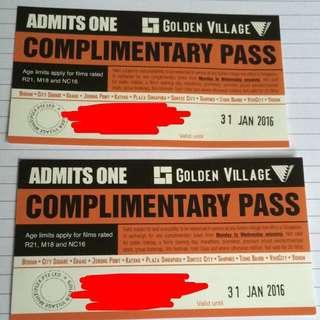 Golden Village Movie Tickets