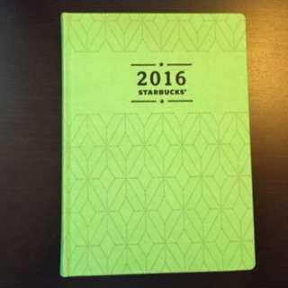 星巴克年曆 2016年曆 全新 未拆封 限量一本
