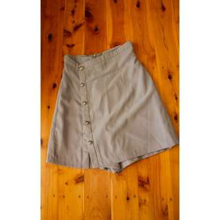 Grey High-waisted Skort Size AU 6 - vintage, skort, skirt, shorts, casual, waist cinching,cute skirt,casual, day out with girls, free postage