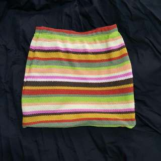 COTTON ON SIZE XS Multi Coloured Skirt Worned Twice Orange, Green Yellow Etc