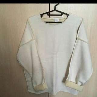 正韓暖暖白毛衣