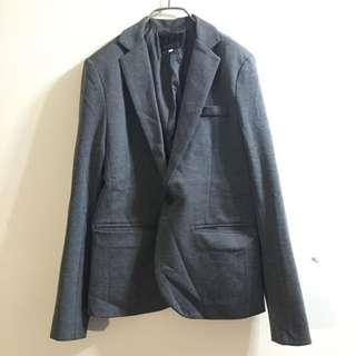 「近全新」正韓深灰西裝外套