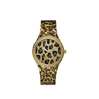 Guess Watch Leopard Gold