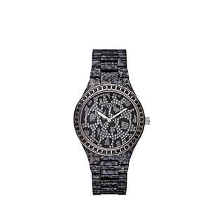 Guess Leopard Watch Charcoal