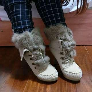 全新轉賣超美毛毛高跟鞋