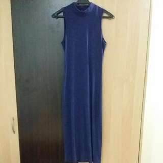 Kitschen Bodycon Long Dress - Dark Blue