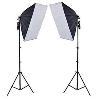 OFFER NOW!!! Used Studio Continuous Soft box Lighting