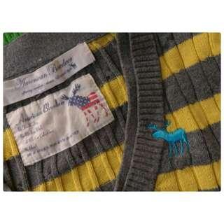 American Bluedeer 百貨公司專櫃正品 V領針織衫 V領毛衣 100%純棉