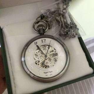 BNIB Regent Louis Skeleton Wind-Up Pocket Watch