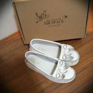 AIR SPACE真皮白鞋