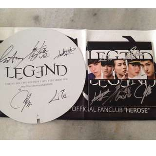 LEGEND The Legend Signed CD + Signed Fan (Autographed by all members)