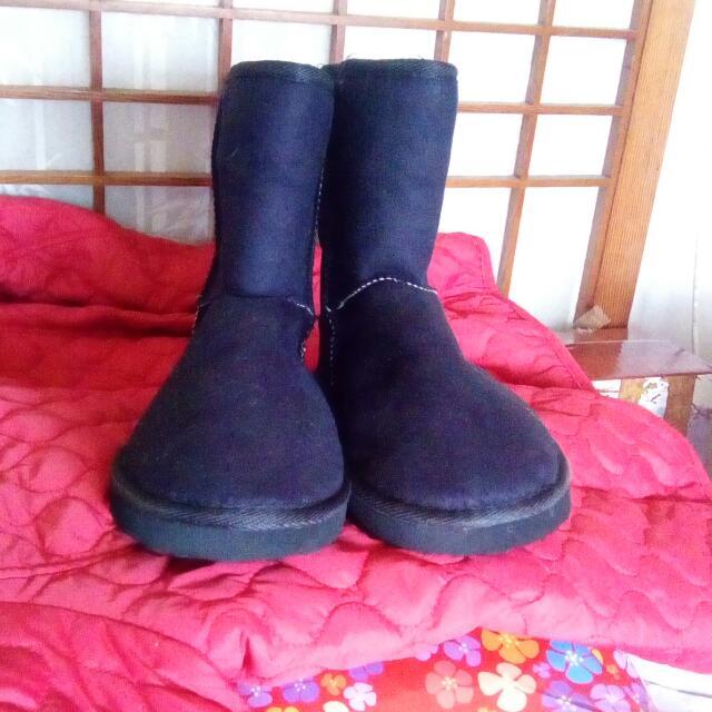 黑色雪靴全新鞋號39號
