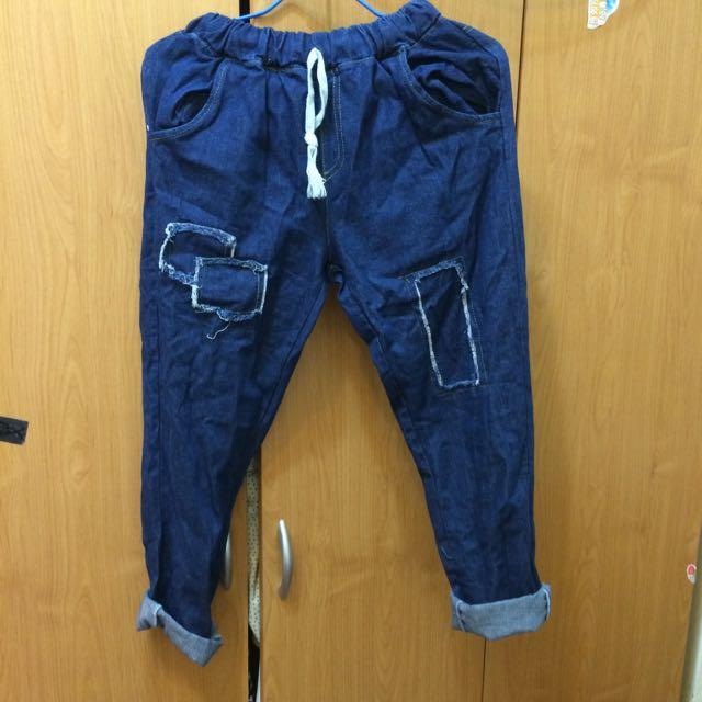 寬鬆牛仔褲