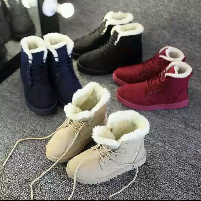 【預購款🎉】超細絨毛綁帶雪靴
