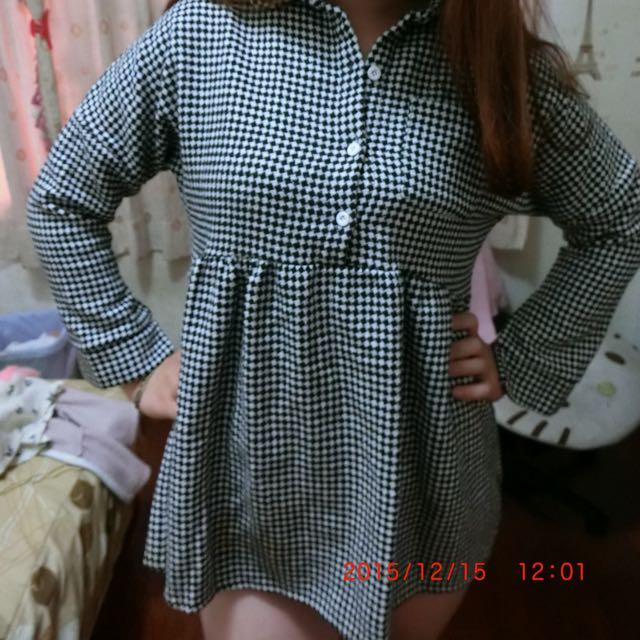 二手格紋洋裝