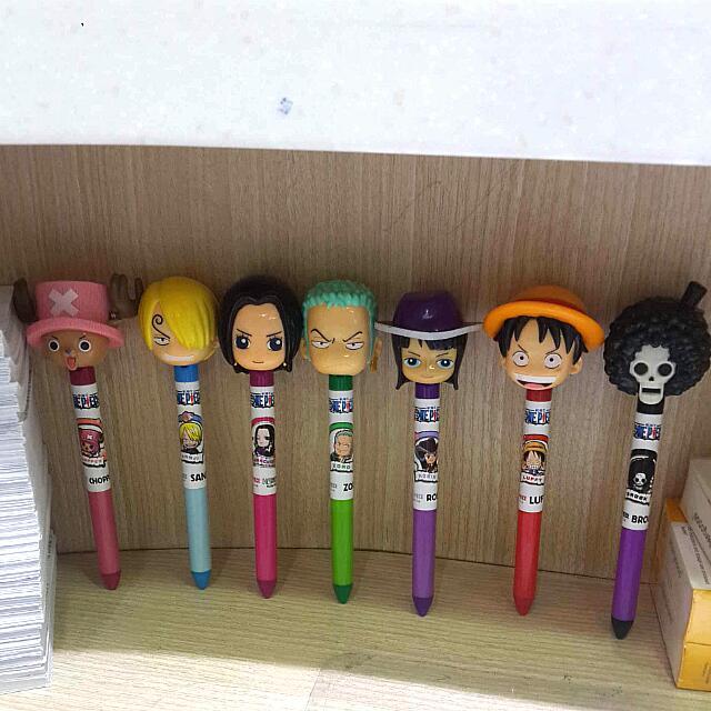 (全新)海賊王造型筆