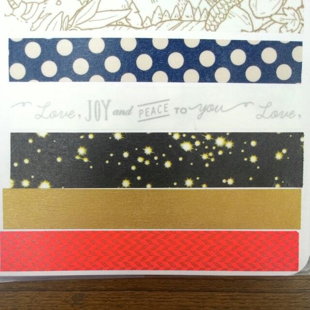 紙膠帶分裝-聖誕套組(黑夜光點)