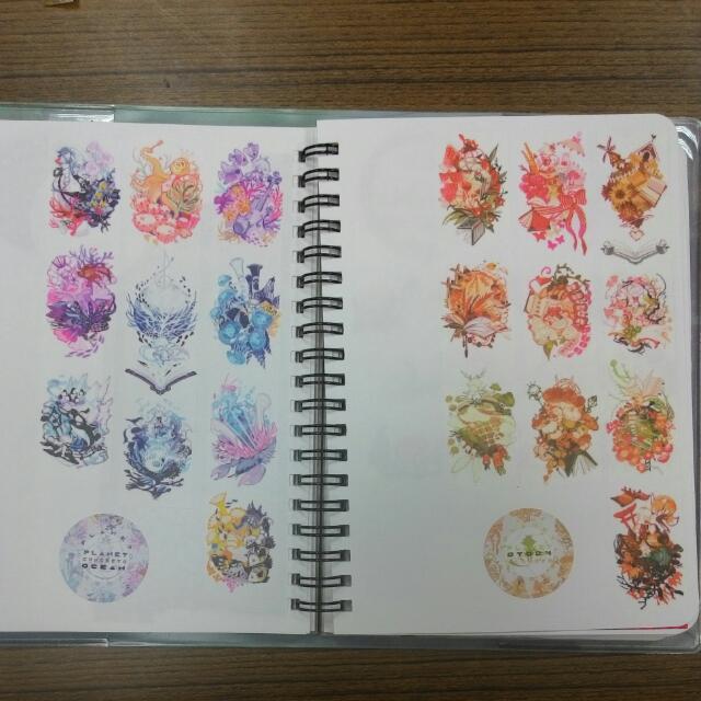 紙膠帶分裝-星球系列(花+海)