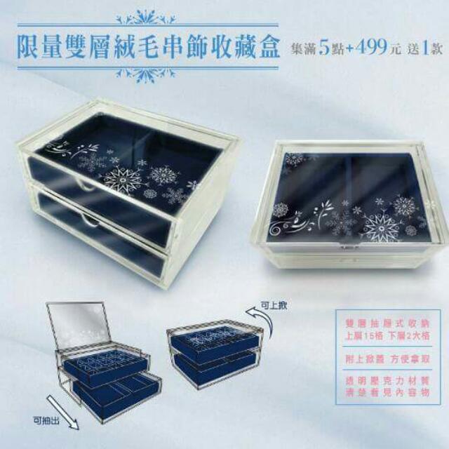 7-11雙層絨毛串飾收藏盒【保留】