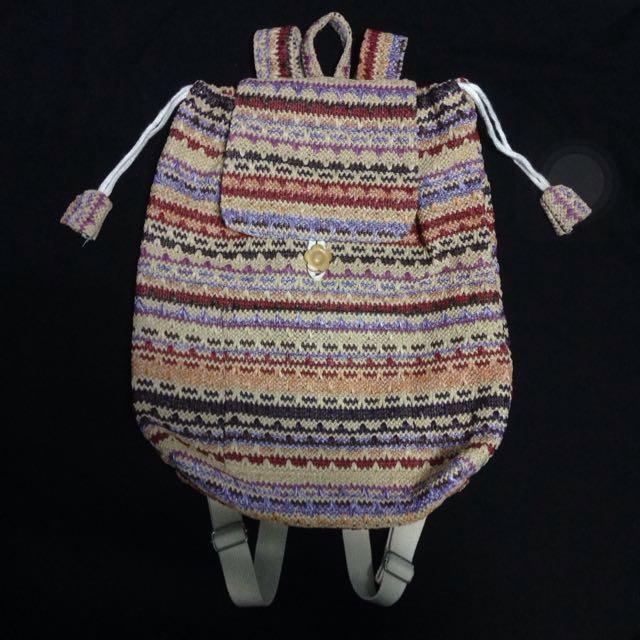 手工編織後背包
