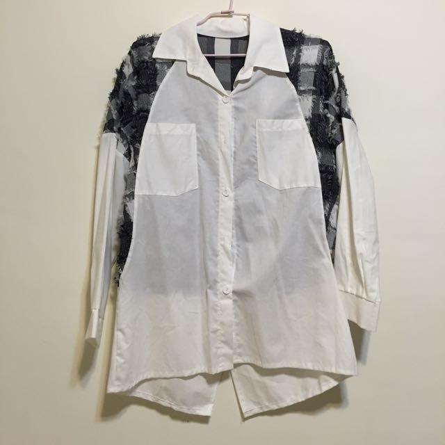 💁🏻白色長袖 襯衫 上衣