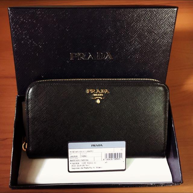 💯% Authentic Prada Portafoglio Lampo Wallet (Brand New), Women s Fashion  on Carousell 12dde6a2cc