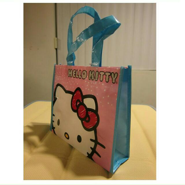 正品 hello kitty 環保購物袋 手拿包