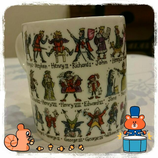 [英國買回] Kings&Queens珍藏繪製馬克杯