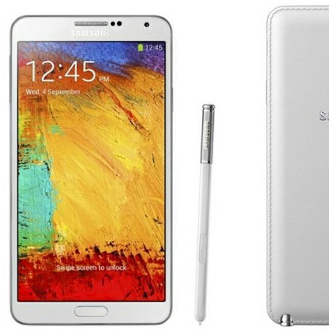 二手 Note3 4G白色前後完整邊角小刮痕