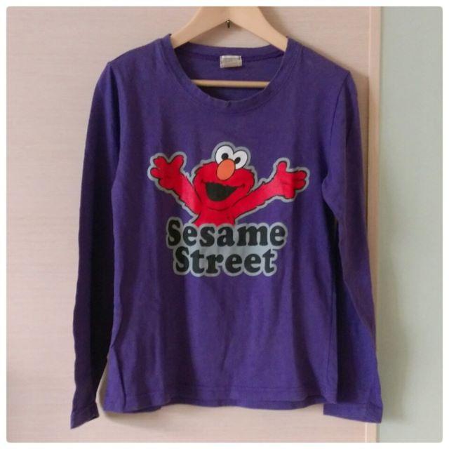 韓國製 Sesame Street Elmo 紫色長袖 T-shirt T恤